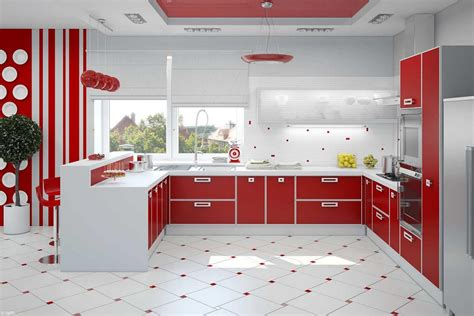 kitchen decorating ideas with red accents retro yellow kitchen cabinets