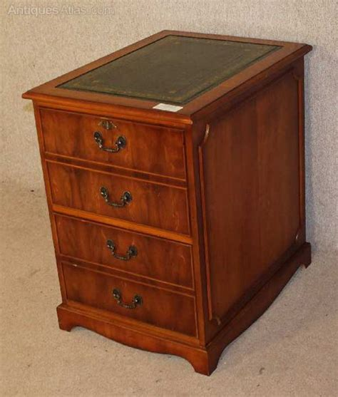 Yew Filing Cabinets Antiques Atlas Yew Wood Filing Cabinet With Green Leather Top