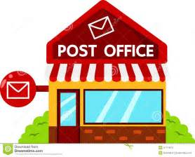 illustrator of post office buildings stock vector image