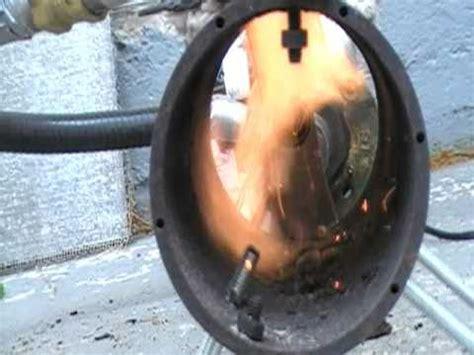 homemade wood gas burner youtube
