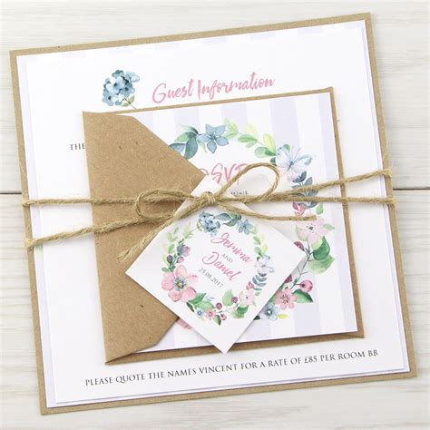 rustic wedding invitation companies the field parcel invitation wedding invites