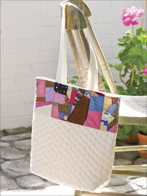quick tote bag pattern quilting quick easy patterns scrappy tote bag