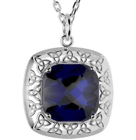 Christie 2524 Silver Blue Original 2524 silver celtic knot quartz doublet pendant