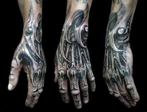 biomechanical bones tattoo top 100 best knuckle tattoos for men a fist full of ideas