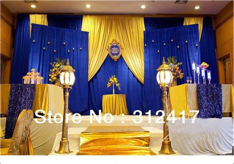 Gallery Gold And Royal Blue Wedding