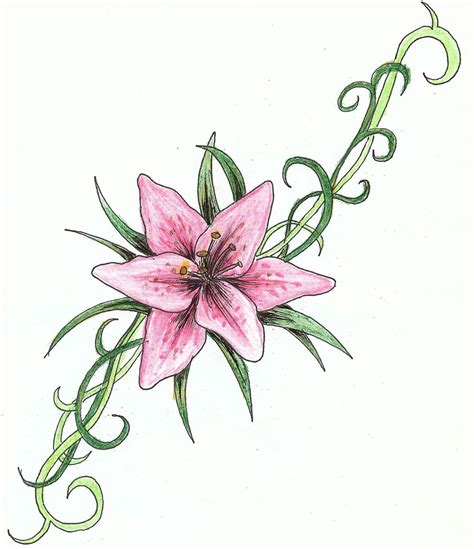 oriental lily tattoo designs tattoos designs ideas and meaning tattoos for you