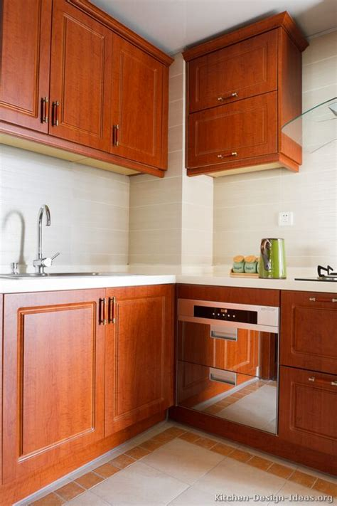 Cherry Wood Kitchen Cabinets With Black Granite Pictures Of Kitchens Traditional Medium Wood Cherry