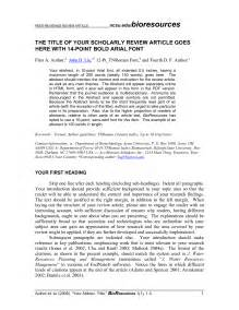Article Review Template by Best Photos Of Journal Critique Exle Article Critique