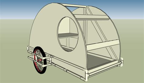 design is one trailer pvc teardrop bike trailer