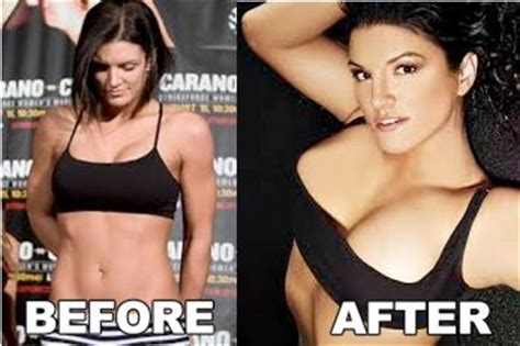 ronda rousey breast implants before and after gina carano breast implants plastic surgery before and