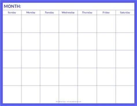 blank calendar my calendar land