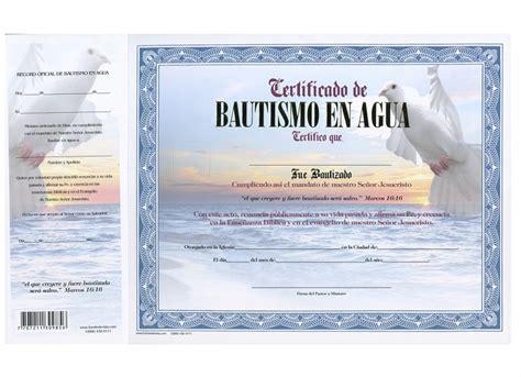 certificado de bautismo template certificados de bautismos cristianos gratis mejor