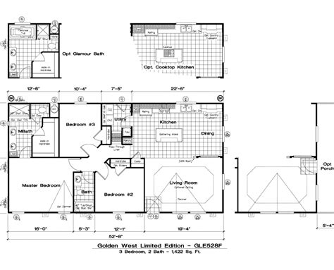 golden west homes floor plans golden west limited edition floor plans 5starhomes manufactured homes