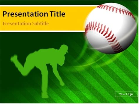 powerpoint templates baseball baseball pitcher powerpoint template 00 0018