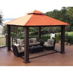 Outdoor Canopy Gazebo 12x12 by Canopies Amp Shades Stc Gz734 Seville Gazebo 12x12