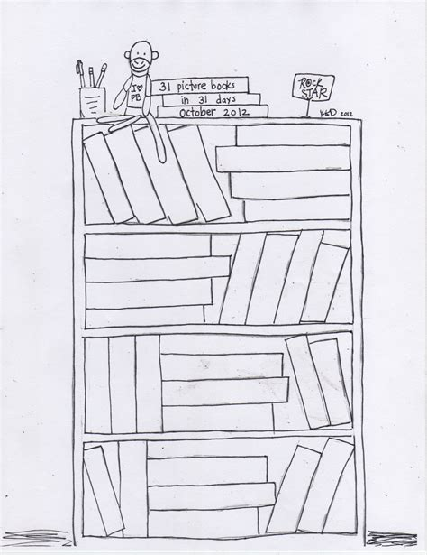 bookshelf drawing www pixshark images galleries