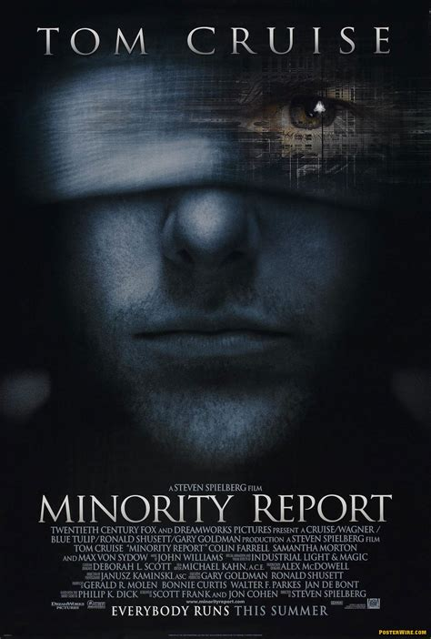 minority report book one font to rule them all posterwire
