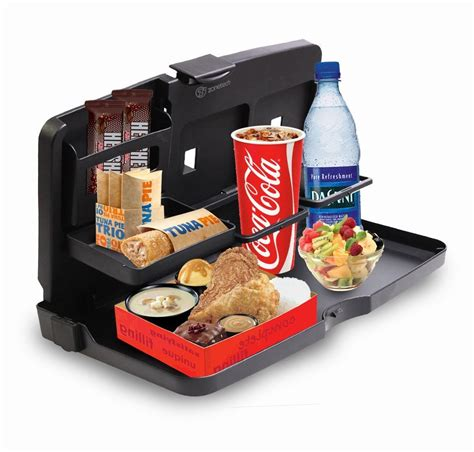 Travel Tray Travel Dining Tray Meja Portable Mobil zone tech back seat car travel food drink portable desk