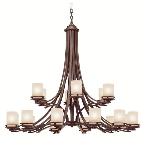 Modern Bronze Chandelier Kichler Modern Chandelier In Bronze Finish 1873oz Destination Lighting