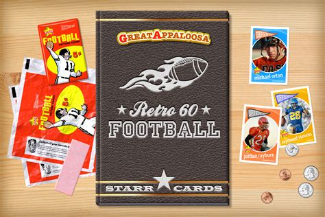 make your own football card custom football cards retro 60 series cards