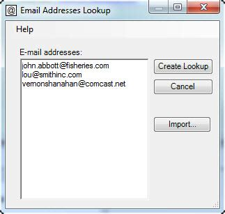 Search By E Mail E Mail Addresses Lookup An Act Add On By Exponenciel