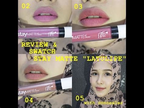 Latulipe Stay Matte Lip Termurah review swatch stay matte lip quot latulipe quot local brands