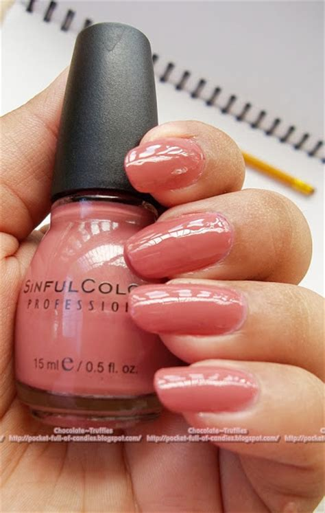 sinful colors vacation time chocolate truffle nails sinful colors vacation time