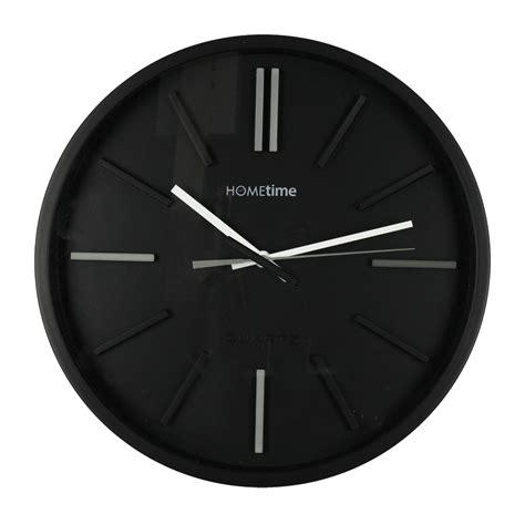 black modern wall clock modern dish black hometime wall clock