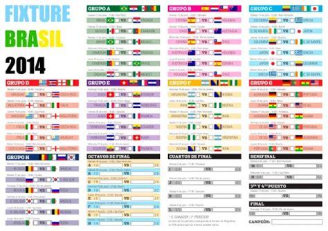 fecha partido mundial brasil 2014 mundial