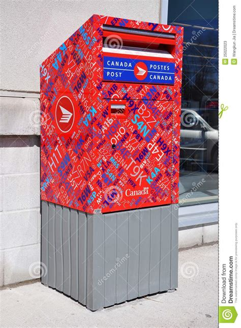 canada post mail box editorial stock photo image 25022023