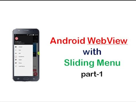 android webview tutorial android webview with sliding menu tutorial part1
