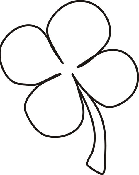 coloring pictures 4 leaf clovers picture of four leaf clover coloring home
