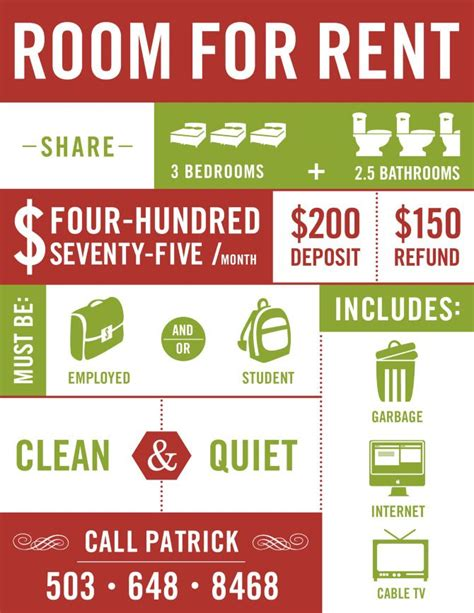 Room For Rent Template Word