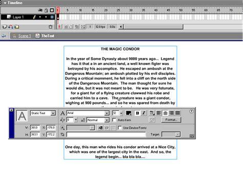 flash tutorial text creating prespective text effect