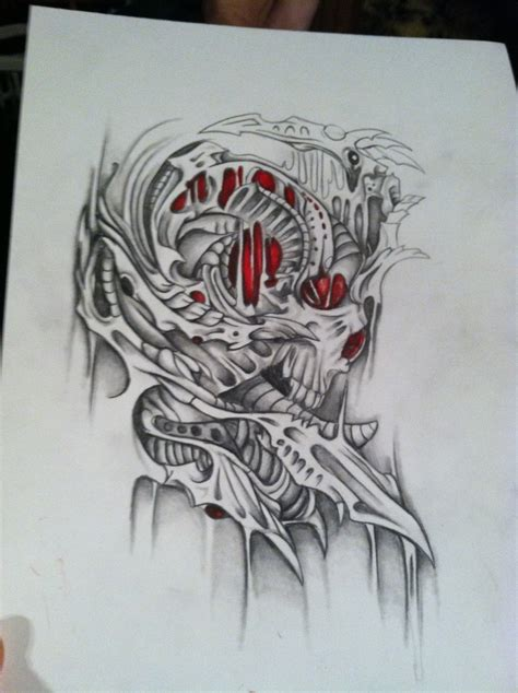 bio tattoo design bio organic skull by gkarts661 on deviantart