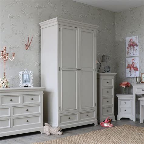gray wardrobe grey double wardrobe shabby vintage chic country bedroom