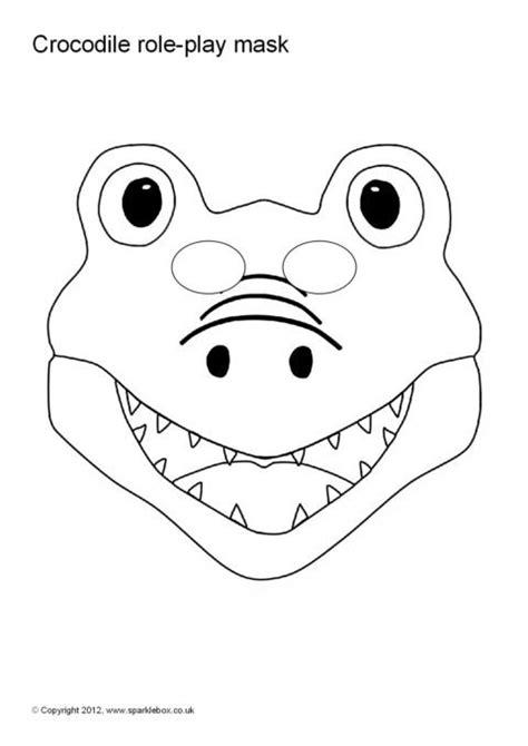 printable alligator mask crocodile role play masks sb1488 sparklebox