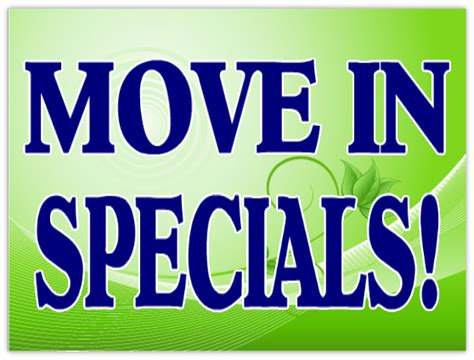 Apartment With Specials Move In Specials Sign 102 Apartment Sign Templates