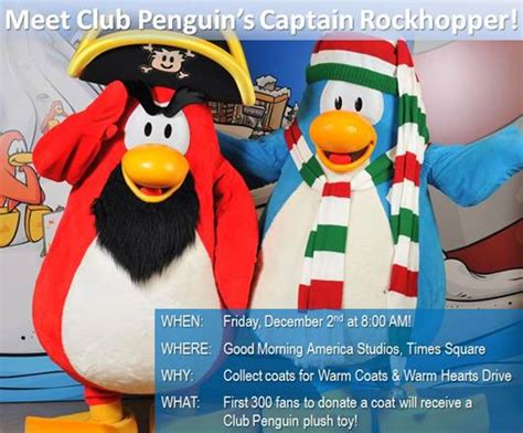 Good Morning America Facebook Giveaway - calling all club penguin fans warm coats for warm hearts drive giveaway 3winners