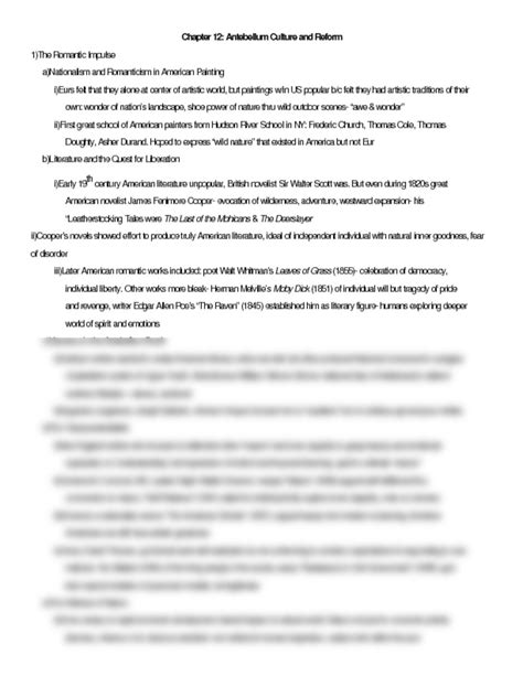 Chapter 13 Apush Outline by Apush Chapter 12 Brinkley Notes Docx Studyblue
