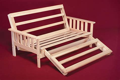 unfinished wood futon frame futon frame solid wood savannah futon lounger bed twin