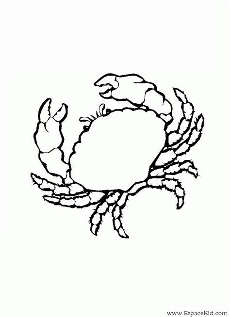 Coloriage Crabe 224 Imprimer Dans Les Coloriages Crustac 233