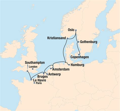map of northern regal routes of northern europe the ohio state
