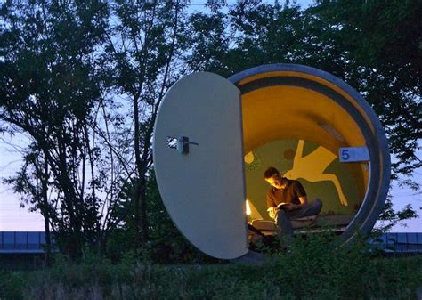 330 Square Feet Room by Sleep In A Concrete Sewer Pipe At This Austrian Hotel