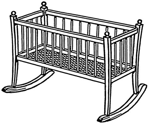Crib Drawings by Clip Crib Cliparts Co
