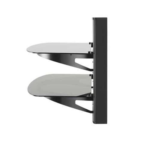 Sanus Shelf by Sanus 2 Shelf Wall Mounted A V Component System With Interchangable Panels Vf5022 B1