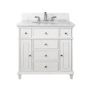 white bathroom vanity with marble top shop avanity white undermount single sink poplar