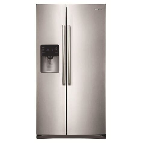 Home Depot Samsung Refrigerator by Samsung 24 5 Cu Ft Side By Side Refrigerator In Black