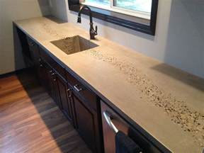 Concrete Countertop Finishing Techniques by Poured Concrete Countertops Marble Acid Stained Island