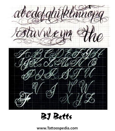 tattoo fonts z lettering fonts a z 4